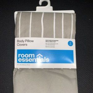 Body Pillow Covers Room Essentials Set of 2 New